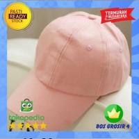 Topi Polos Pink Baseball Hip Hop Polos