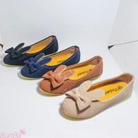 Sepatu Flat Shoes Anak Perempuan Bunny Suede Usia 4 5 6 7 8 9 10 Tahun