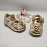 Sepatu Pesta Bayi Perempuan 6 bulan 1 2 Tahun Gold Pink Red Fuschia