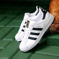 Sepatu Sport Nike Adidas Superstar Putih List Hitam Original terlari