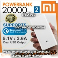 Powerbank Xiaomi 20000mah / 20000 mAh 100% ORIGINAL GARANSI grab