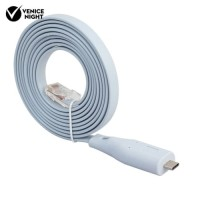 [venice]6ft USB Type C RS232 to RJ45 Adapter Flat Console Cable Cisco