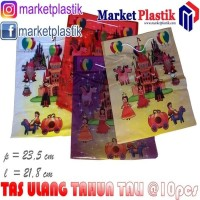 Tas Plastik Goodie Bag-Kantong Souvenir Ulang Tahun-Tas Ultah Tal