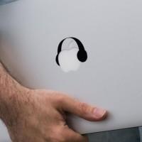 Decal Macbook Sticker- Headphone onderdil