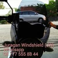 Aksesoris Variasi Windshield Winsil Visor Lampu Bulat Suzuki Thunder 2