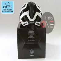 LAZER HELMET GENESIS WHITE BLACK Asian Fit - Helm Sepeda FREE ONGKIR