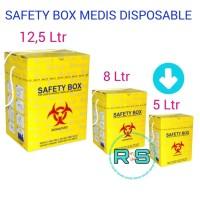 Safety box Bio Hazard 5 liter Tempat Sampah Medis