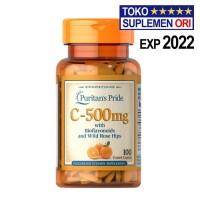 Puritan VITAMIN C 500 Mg 100 Tablet Vit C 500 Puritans Pride C-500 Mg