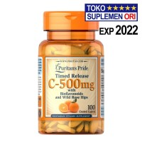 VITAMIN C-500 Puritans Pride C500 Mg 100 Tablet Timed Release C 500 Mg
