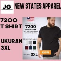 Kaos Polos T Shirt New States Apparel NSA 7200 Size 3XL 100% Original