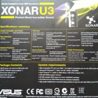 TERMURAH ASUS XONAR U3 USB SOUNDCARD BEST QUALITY