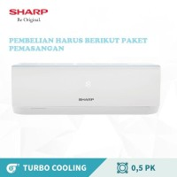 AC SHARP SPLIT R32 AH-A 5 UCY 1/2 PK TURBO COOL STANDAR