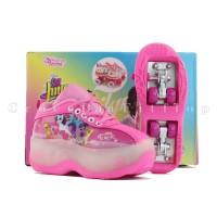 Sepatu Roda Anak Perempuan [Original] Karakter Litle Pony Roda 4 -Pink