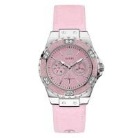 Guess Jam Tangan Wanita Analog Pink Leather - W0775L15