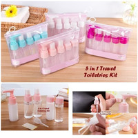 BOTOL REFILL SET 5 IN 1 TRAVEL TOILETRIES KIT
