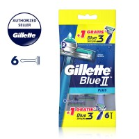 Gillette Pisau Cukur Blue II Plus 5+1 Blue Simple