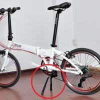 standar tengah double kickstand sepeda lipat brompton troy