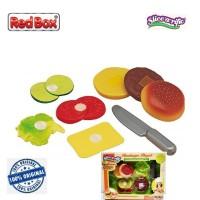 Red Box Toy Slice a Rific Hamburger Playset Masak Roti