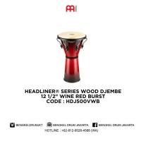 Meinl HEADLINER® SERIES WOOD DJEMBE Wine Red Burst HDJ500VWB