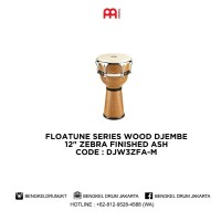 """Meinl FLOATUNE SERIES WOOD DJEMBE 12"""" ZEBRA FINISHED ASH - DJW3ZFA-M"""