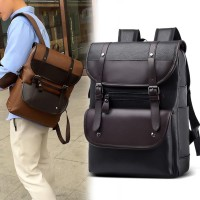 Tas Ransel kulit PU PRIA Backpack import Kuliah Kerja HIGH QUALITY