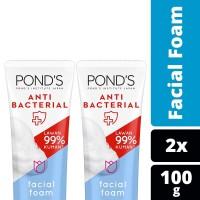 Ponds Facial Foam Pembersih Wajah Anti Bacterial 100G Twin Pack