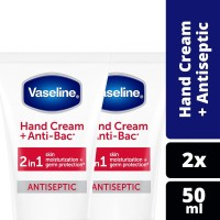 Vaseline Hand Cream Anti Bacterial 50Ml Twin Pack