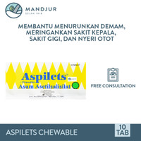 Aspilets Chewable 80 mg Strip 10 Tablet