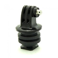 Tripod Screw to SLR Camera Flash Shoe Mount Adapter GoPro