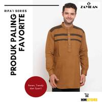 New Baju Muslim Pria Zayidan Model RAUF COKLAT MUDA