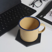 Coaster Hexagon Keramik / Tatakan Gelas Segi Enam / Properti Foto