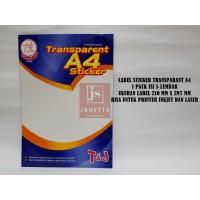 Kertas Stiker Transparan TOM & JERRY Ukuran A4 Sticker Anti Air
