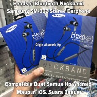 Bluetooth Headset Neckband Samsung SM-002 Wireless Bluetooth Earphone