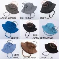 Topi Rimba / Topi Bucket Hat / Bucket Hat Polos / Topi Mancing