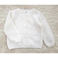 sweater Anak Putih Rajut