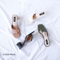 Pluvia - VENTI Sepatu Chunky Heels Wanita - Hitam, 36