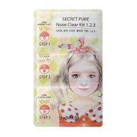 The Saem Secret Pure Nose Clear Kit 1.2.3 ( 9gr )