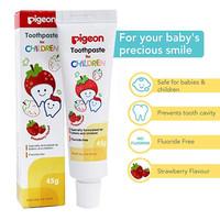 Pigeon Toothpaste Pasta Gigi Odol Bayi Orange Strawberry - Strawberry