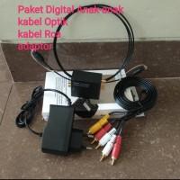 Paket Digital to analog Audio Converter + Kabel Optik