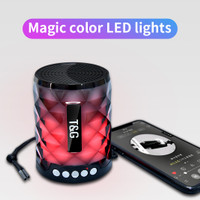 Speakers Bluetooth TG-155 Super Bass Magic Color LED Lights Import - Acak Warna