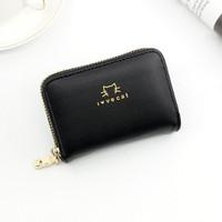 K99-8 Dompet Kartu Kredit I LOVE CAT Kapasitas Besar Kulit Dompet RFID - Hitam