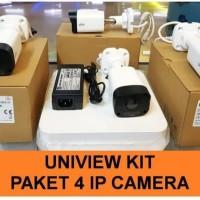 Paket Cctv Uniview 4ip Cam/Cctv Unv kit Nvr Poe 4Ch 2M 1080p