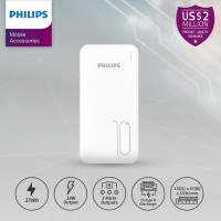 PHILIPS DLP 6812C PowerBank 10,000mAh 18W PD-QC Original - White