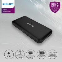 PHILIPS DLP 6812N PowerBank 10,000mAh Li-Polymer 2.1A, Type C - Black