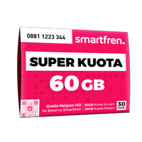 KARTU PERDANA MODEM & HP SMARTFREN 4G LTE (BAND 5 & 40) 60 GB