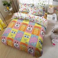 Set Bedcover kintakun Dluxe 3D Rumbai King 180x200 - Sponge Spongebob