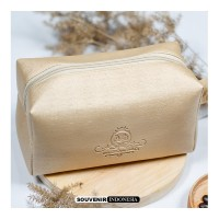 SOUVENIR PERNIKAHAN POUCH BOXY LEATHER MURAH FREE PACKING FREE EMBOS