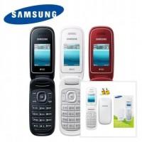 HP Samsung lipat E1272 Caramel termurah dual sim - Putih