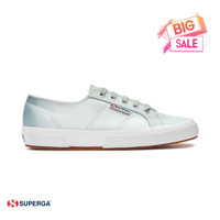 Sepatu sneaker Wanita Superga Cotu 2750 Satin Biru/Abu BNIB - 38