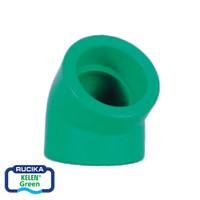 """KNIE ELBOW 45° PPR RUCIKA 3"""" inch / Green ELBOW Knee 45 derajat 90 mm"""